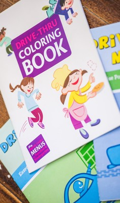 Drive Thru Coloring Book